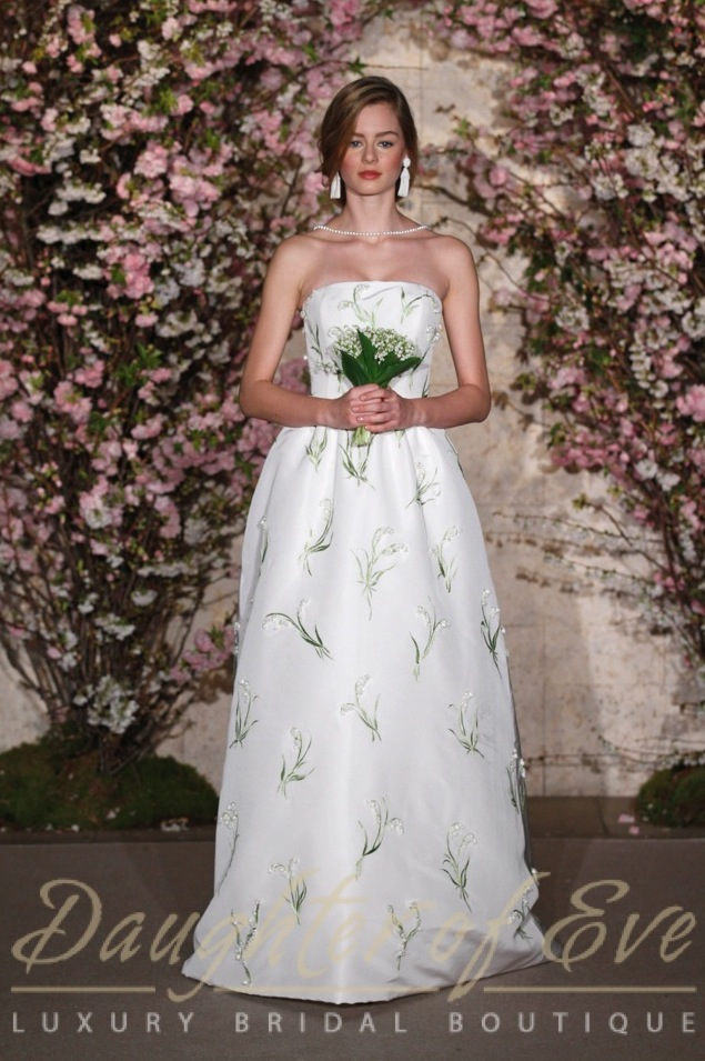 Lillies of the valley ODLR bridal dress