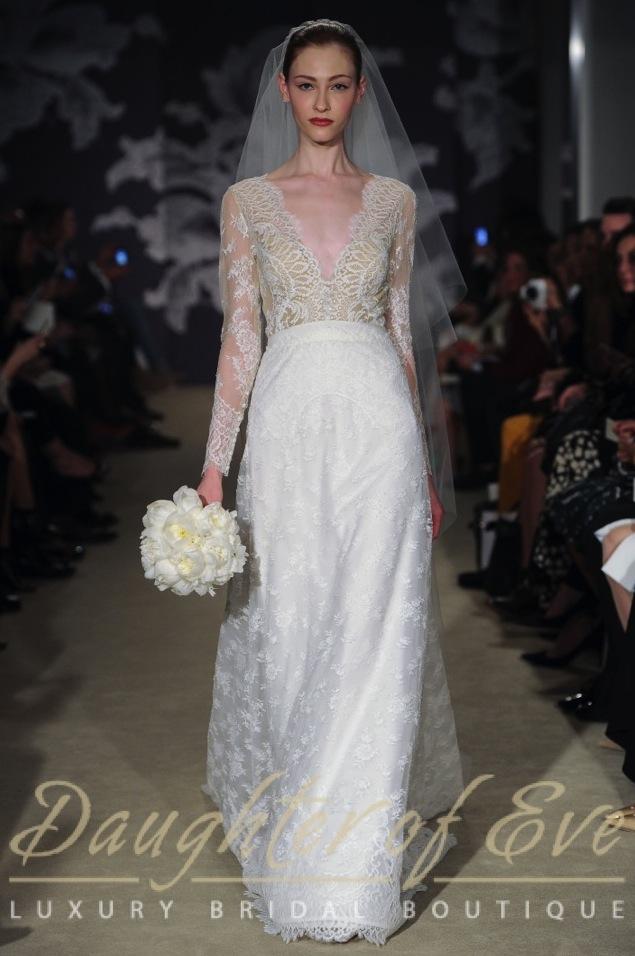 carolina herrera claudette bridal wedding dress