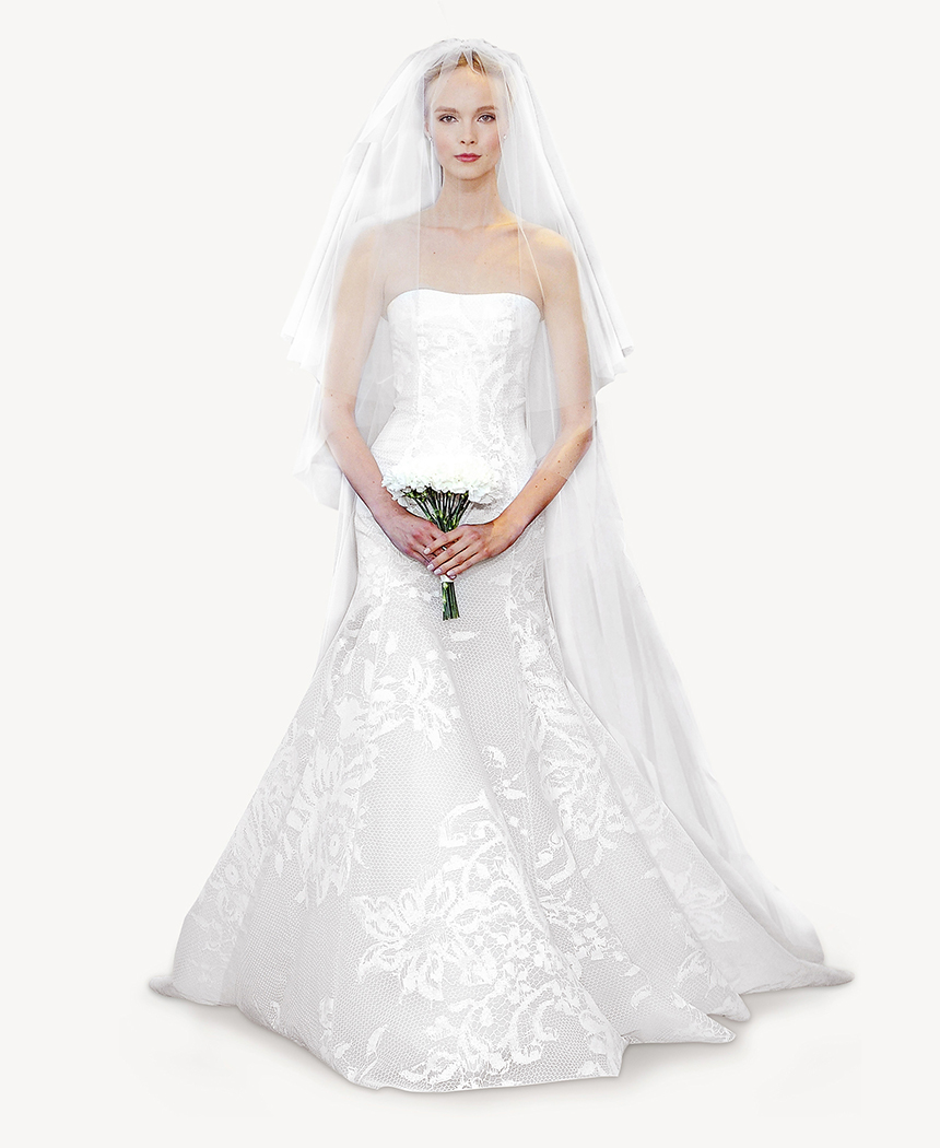 Sample wedding dress sale discount carolina herrera chny Carolina herrera wedding dresses for sale