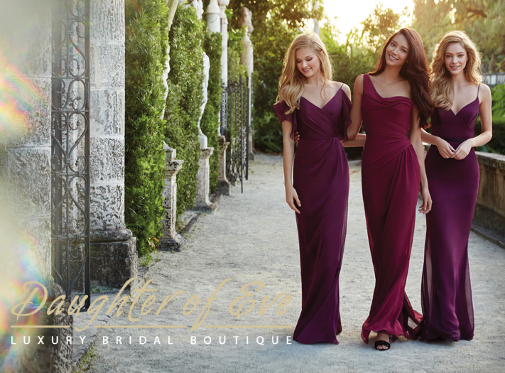 www.daughterofeveboutique.com:blog bridesmaid dress competition Jim Hjelm and Alvina Valenta
